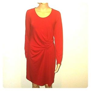 Long sleeved J.Jill red dress